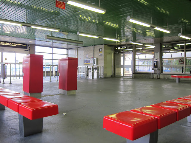 Lawrence East interior waiting area.