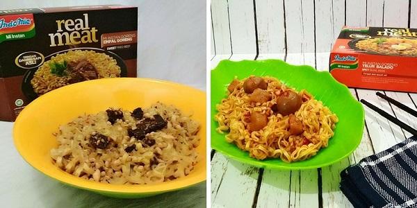Indomie Real Meat Empal Goreng dan Telur Balado