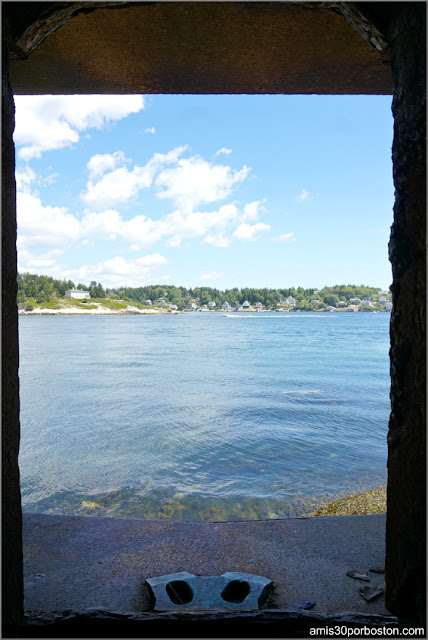 Vistas desde el Fuerte Fort Popham en Phippsburg, Maine