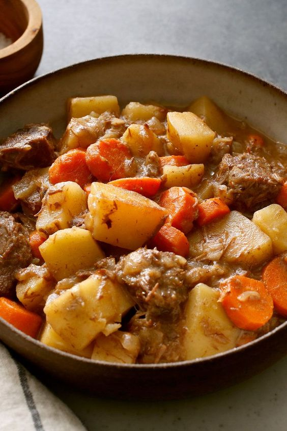 NYT Cooking: This classic stick-to-your-ribs stew is the ideal project for a chilly weekend. Beef, onion, carrots, potatoes and red wine come together in cozy harmony. If you are feeding a crowd, good news: It doubles (or triples) beautifully
