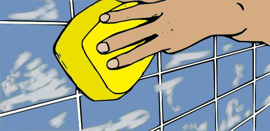 lucidare-pulire-stucco-sulle-piastrelle
