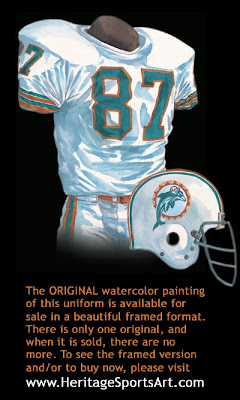 Miami Dolphins 1972 uniform