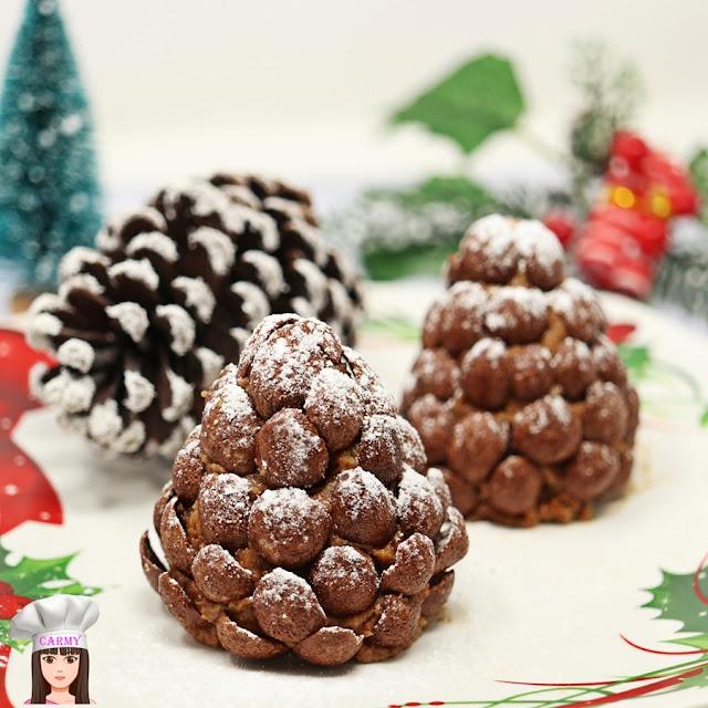 pigne dolci al cioccolato