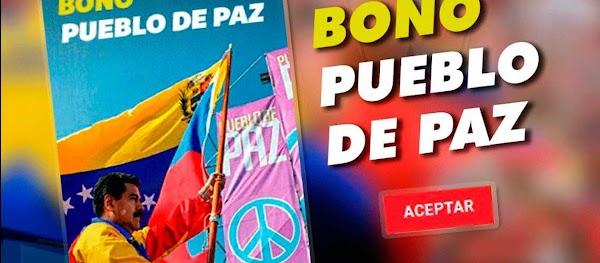 """Llega una nueva sorpresa """"Bono Pueblo de Paz"""" a través del carnet de la patria"""