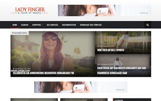 Lady Finger Responsive Blogger Template