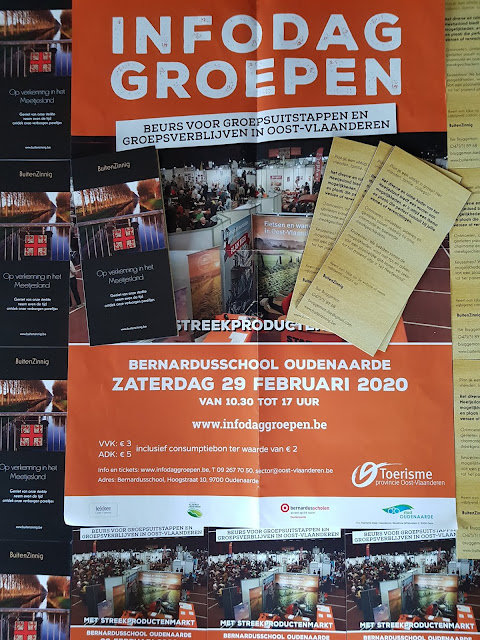 Affiche groepsuitstappen O-Vlaanderen en folders Buitenzinnig 2020