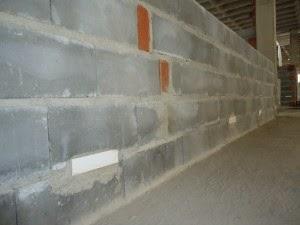 parede de bloco de concreto