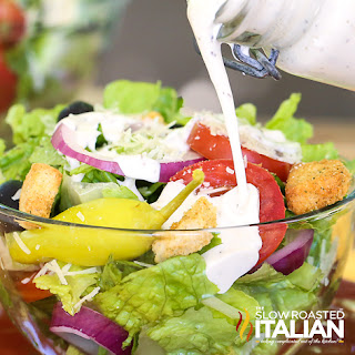 Copycat Olive Garden Salad and Dressing