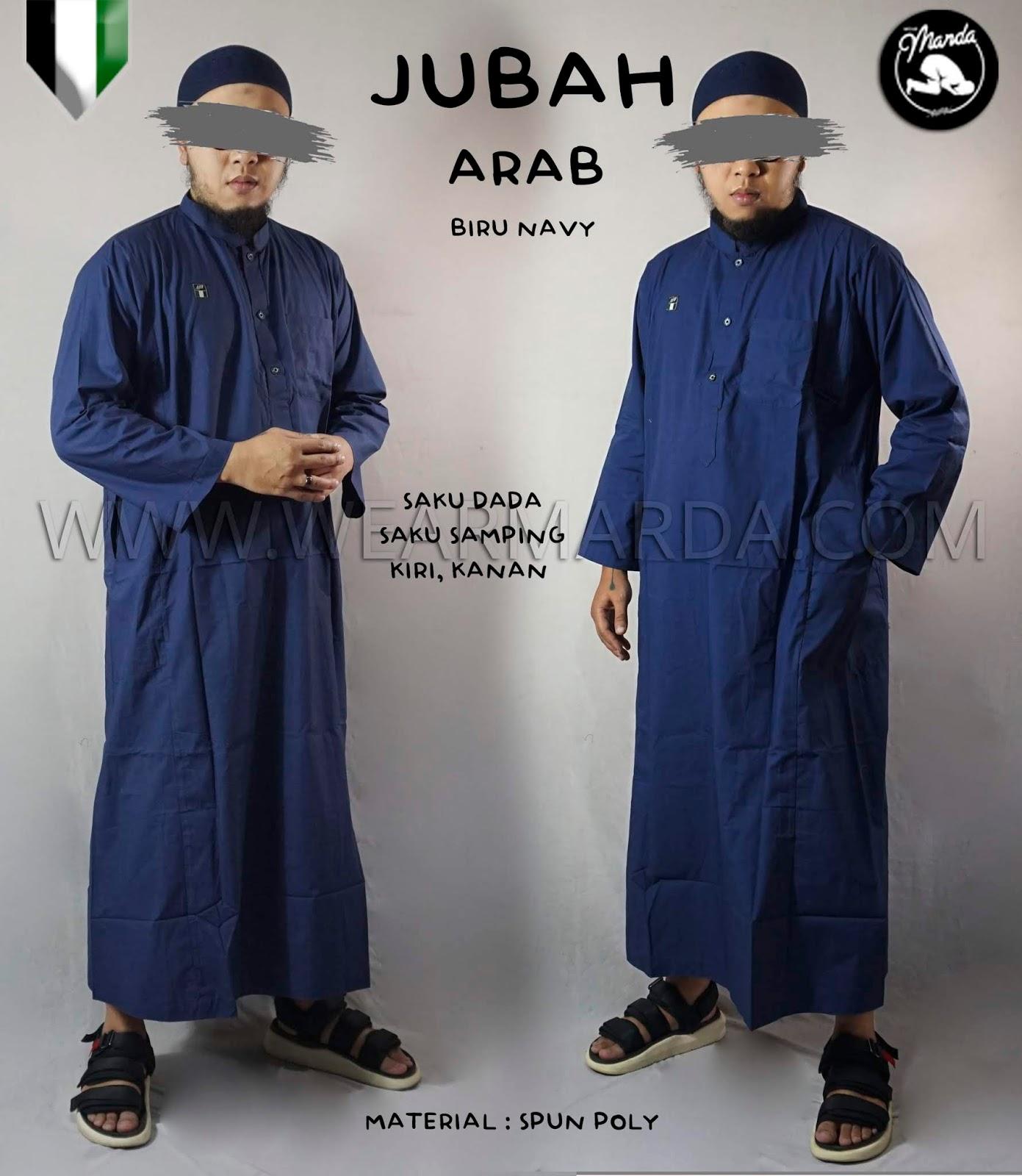 JUBAH ARAB BIRU NAVY