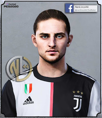 PES 2020/19/18 Adrien Rabiot Face by Nanilincol44