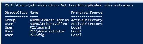 كيفية إزالة المستخدمين من مجموعة الإدارة المحلية مع نهج المجموعة