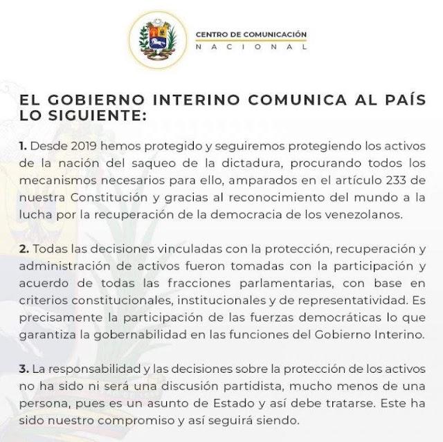 Primero Justicia se separó de Juan Guaidó y dan a entender que se robó el dinero