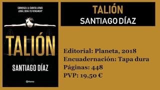 https://www.elbuhoentrelibros.com/2018/10/talion-santiago-diaz.html