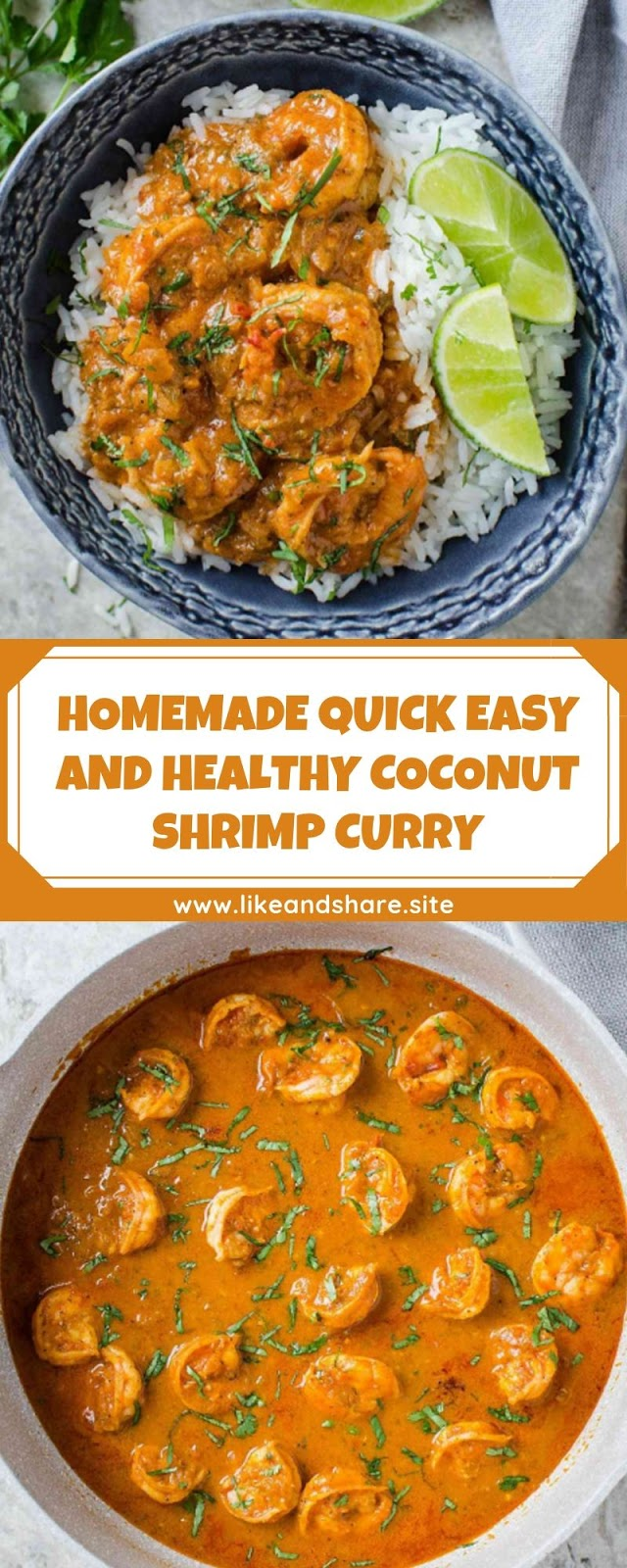 HOMEMADE QUICK EASY AND HEALTHY COCONUT SHRIMP CURRY