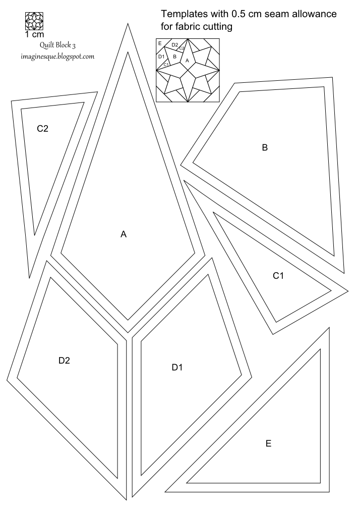 Imaginesque: Quilt Block 3: Pattern and Templates
