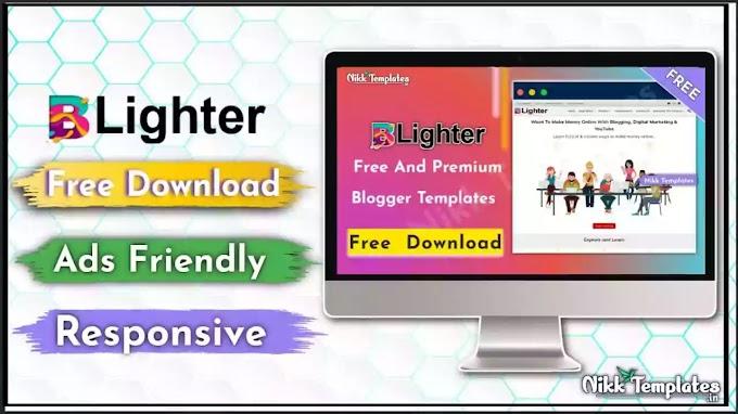 [Orginal] BLighter - Responsive Blogger Template {Free Download}