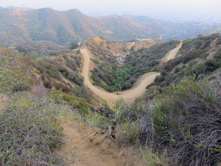 View south toward Mulholland and Hollyridge trails