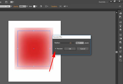 cara membuat objek blur di ilustrator 3