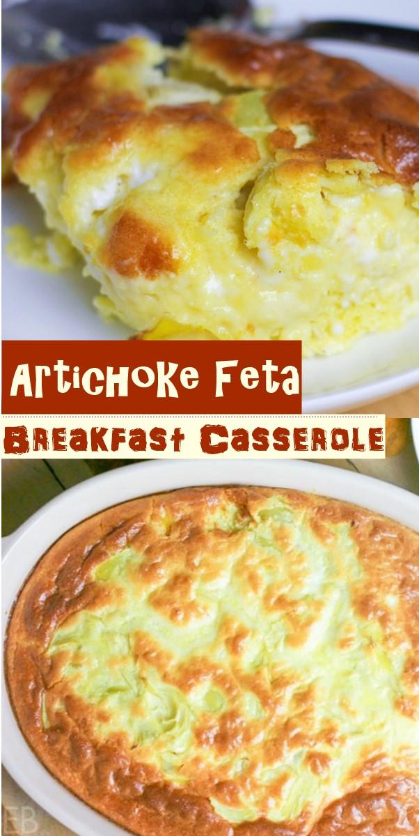 Artichoke Feta Breakfast Casserole #Breakfastideas