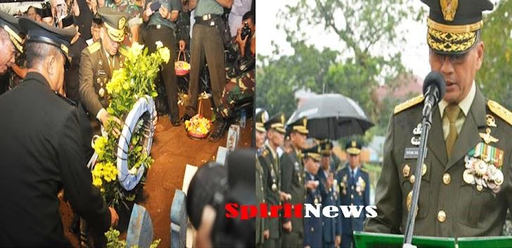 Wakasad, Jadi Irup Pemakaman  Jenazah Almarhum Jenderal Pur George Toisutta