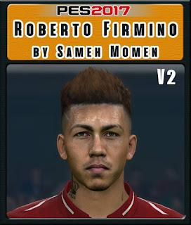 PES 2017 Faces Roberto Firmino by Sameh Momen