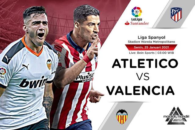 Prediksi Atletico Madrid Vs Valencia