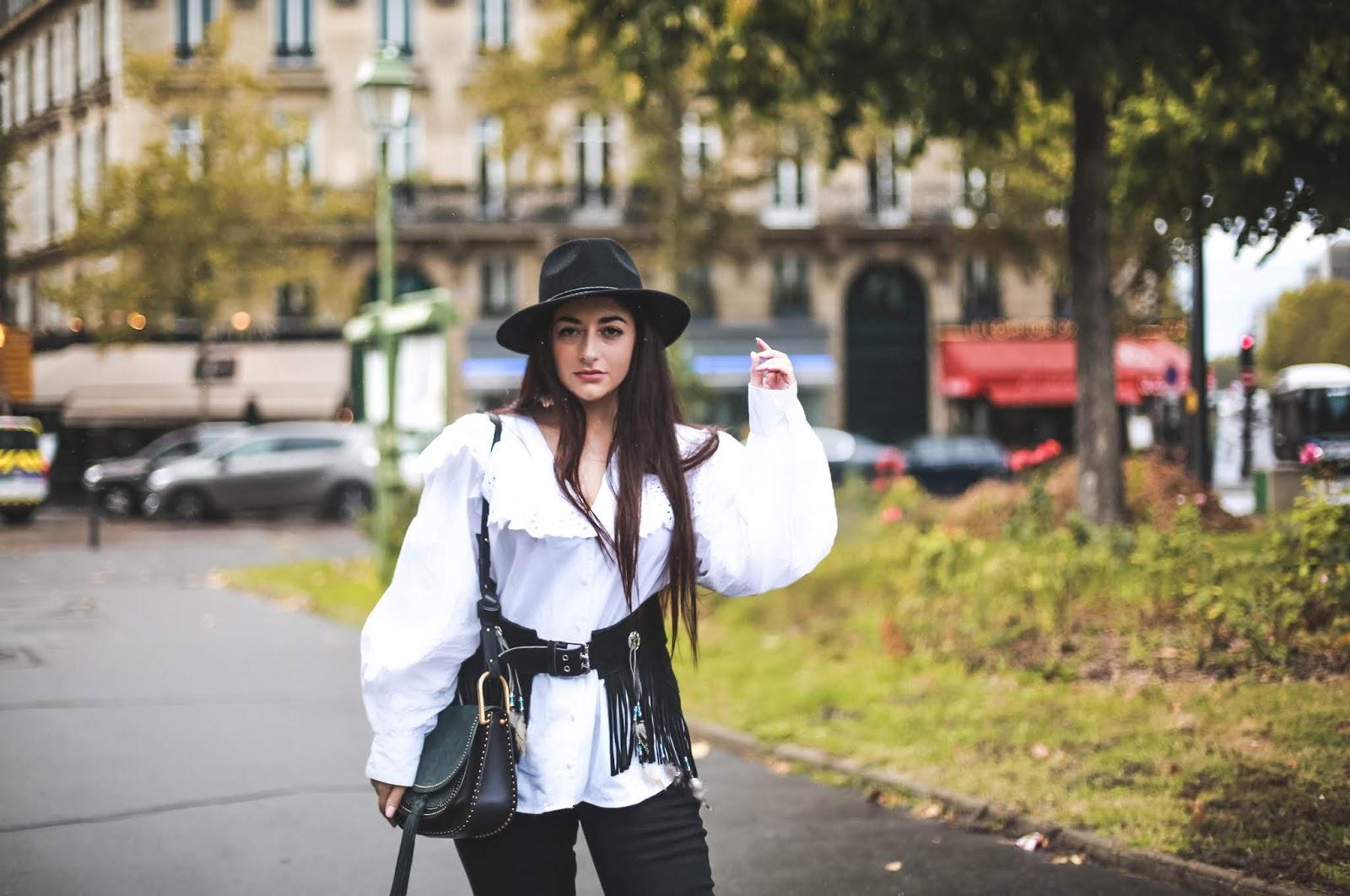 sac Chloé à franges blog mode tendance western