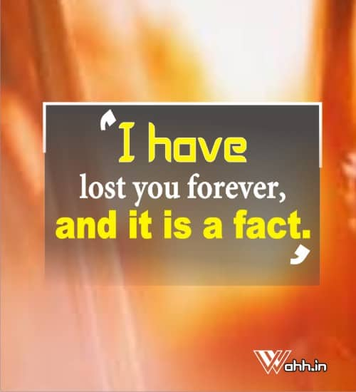 I-have-lost-you-forever