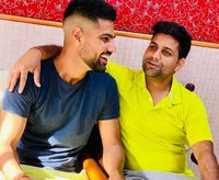 lalit yadav with her brother