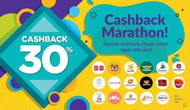 #OVO - #Promo Cashback Marathon 30% di Ratusan Merchant (s.d 30 April 2019)
