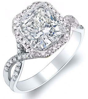 Cushion cut diamond engagement rings look excellent.