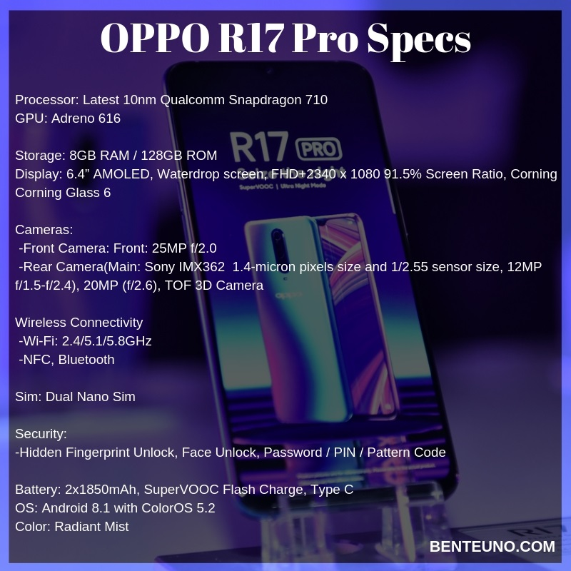 OPPO launches its first Triple Camera smartphone R17 Pro, made for