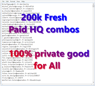 200k Fresh Paid HQ combos 100% private good for All Gaming, Streaming, Vpn, Music, Hosting, Shopping
