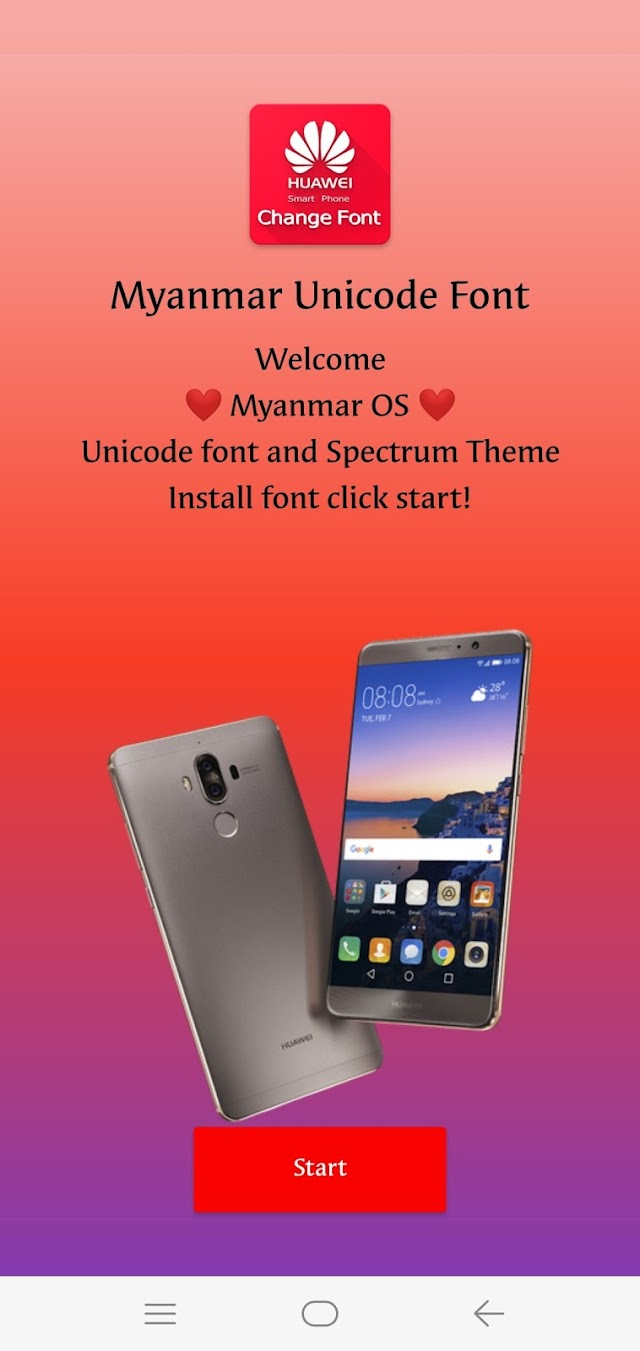 Myanmar Unicode Font For Huawei