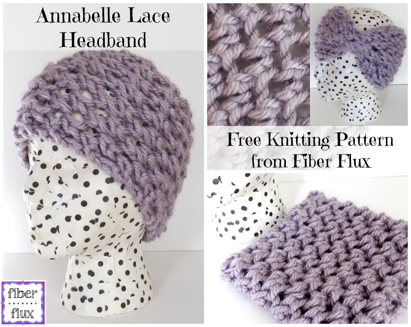 Fiber Flux: Free Knitting Pattern: Annabelle Lace Headband!