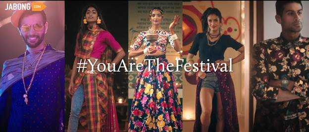 "Jabong Launches Festive Brand Campaign ""#YouAreTheFestival"""