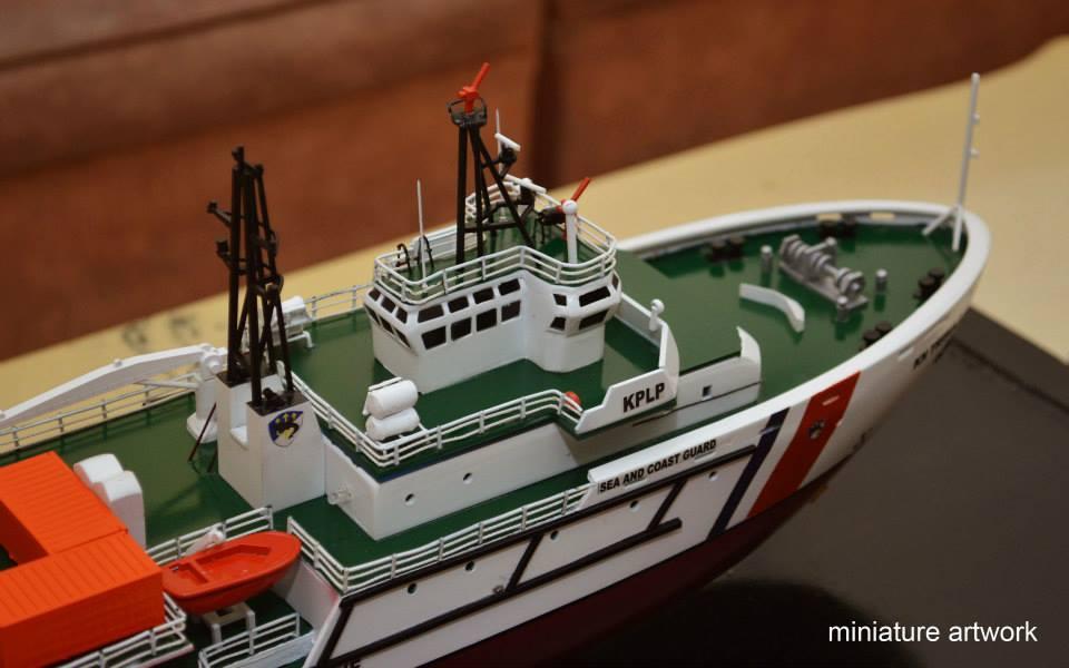 produsen pengrajin miniatur kapal kn trisula p111 kplp kesatuan penjaga laut dan pantai sea and coast guard planet kapal rumpun artwork