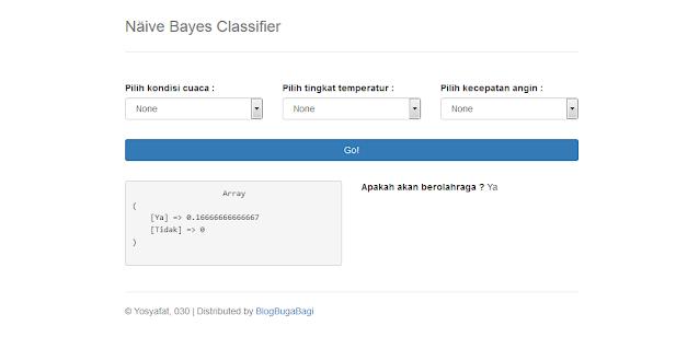 Source Code PHP Metode Naive Bayes Classifier pada Klasifikasi Berolahraga