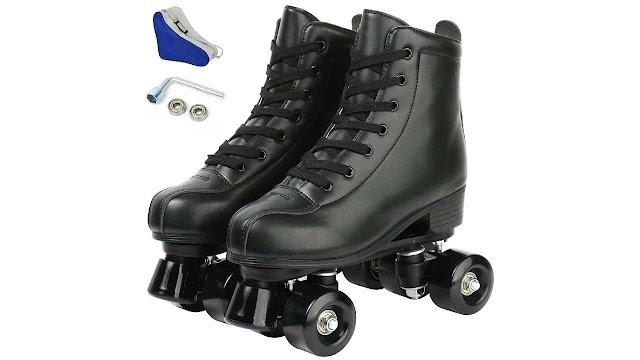 Jessie PU Leather Roller Skates