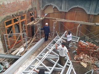 Fabrikasi baja ringan galvalum malang di masjid