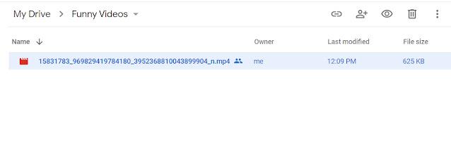 Open Google Drive Folder on website