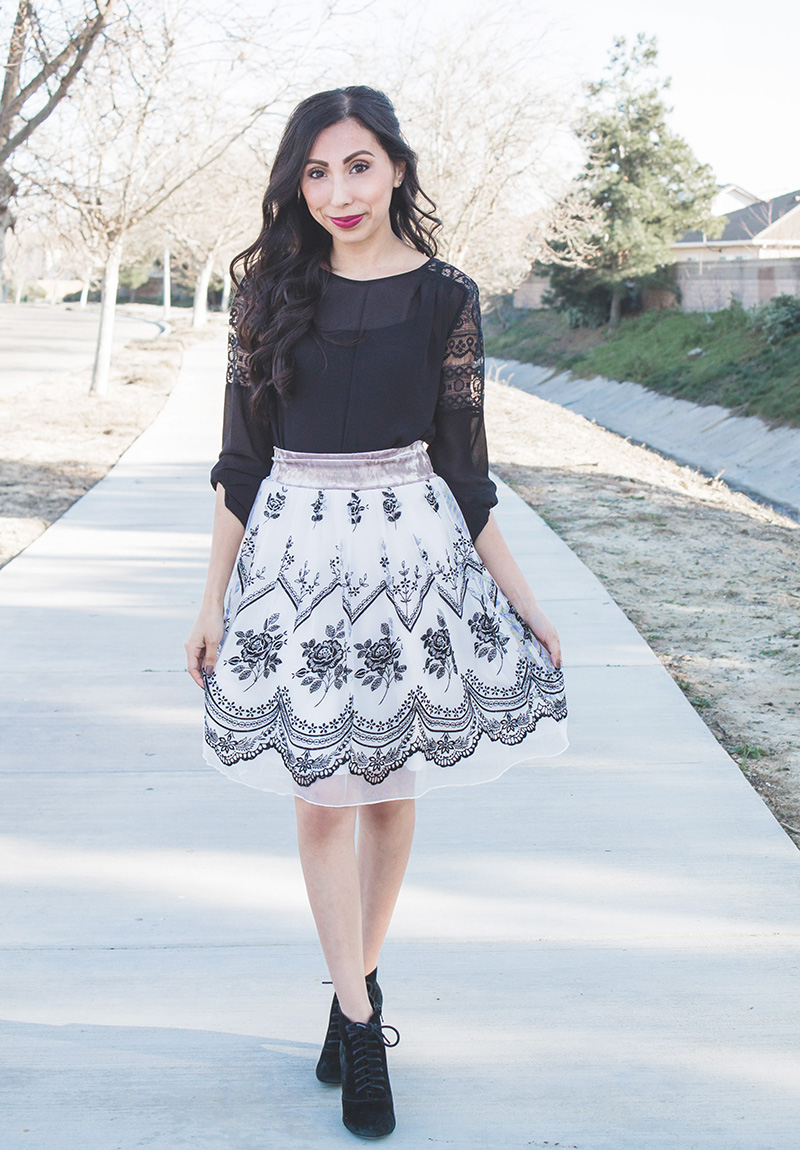 dress to tulle skirt refashion modest outfit