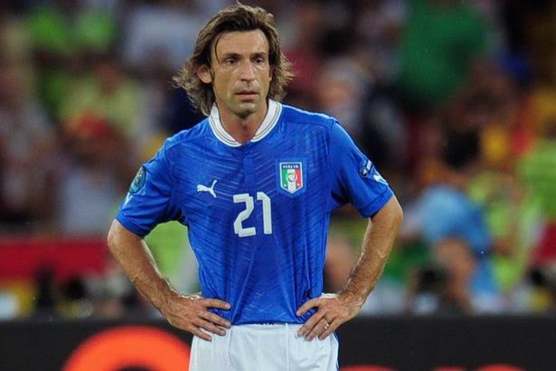 Surto de olho no craque  Andrea Pirlo - Se aposentará da seleção ... 179a9d5d73de6