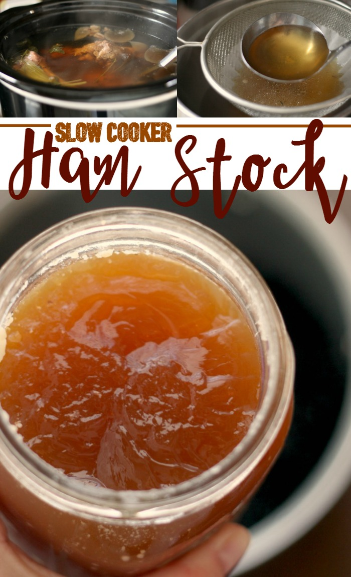 How to make ham stock in the slow cooker