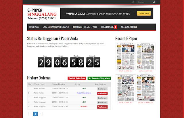 Web E-paper (Koran Digital) php