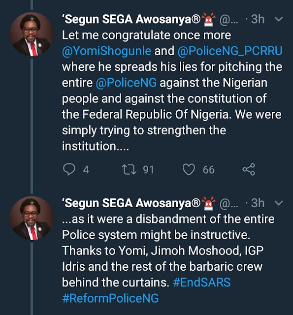 Founder of #ENDSARS movement alleges a woman was asked to pay for her son