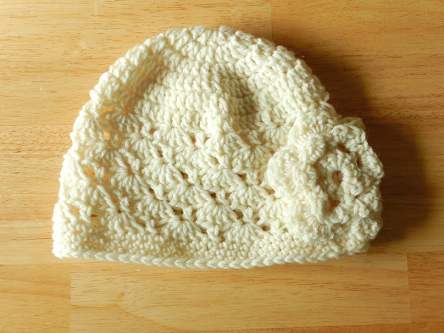 Womens Crochet Flower Hat