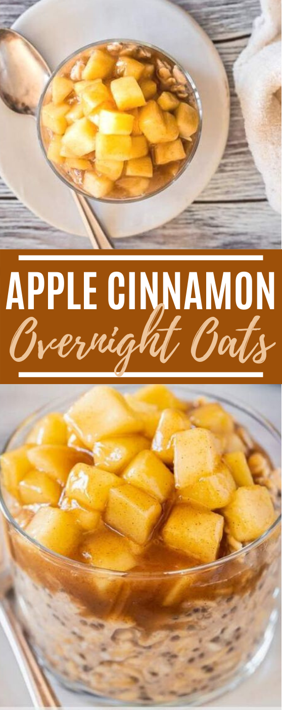 Apple Cinnamon Overnight Oats #healthy #breakfast #diet #vegetarian #easy