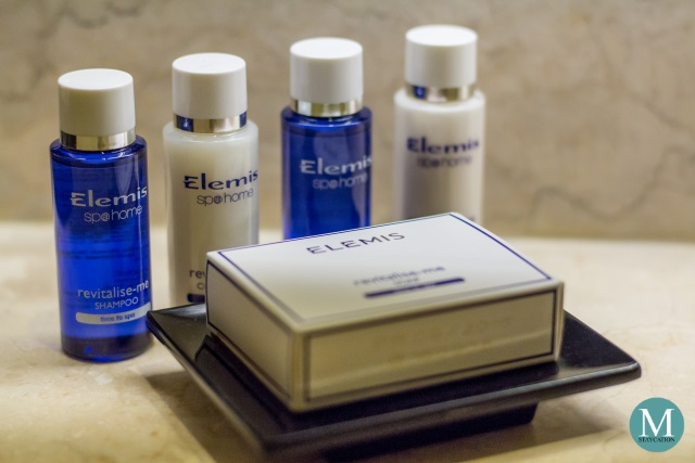 Elemis toiletries at New World Makati Hotel
