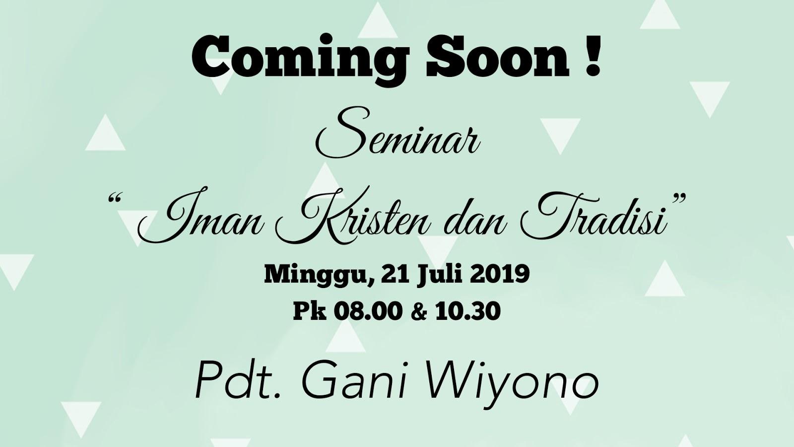 Seminar GSJA Sword 21-07-2019 Pdt. Gani Wiyono